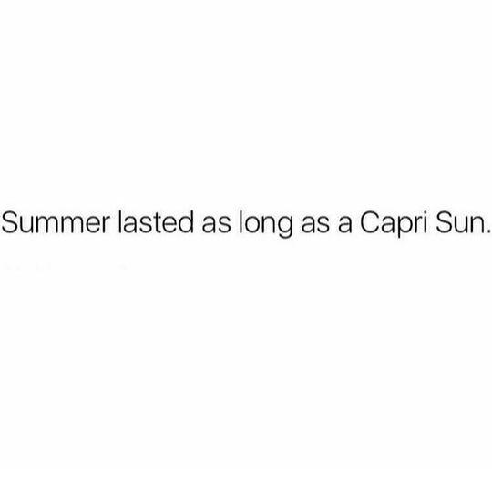 Summer ending meme