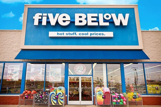 Discount store Five Below opens its doors Sept. 14 at 7800 Mall Road in Florence.
