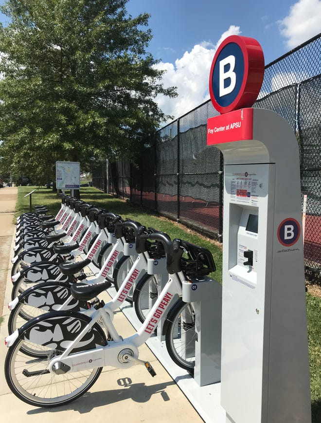 Clarksville and APSU are opening a BCycle station on campus later this week.