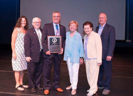 Middlesex County Freeholder director presented MCC's L'Hommedieu award