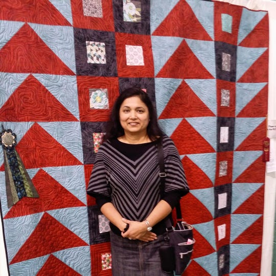 In October, Plainsboro Library Gallery will host an exhibit of contemporary quilts by artist Krishma Patel.