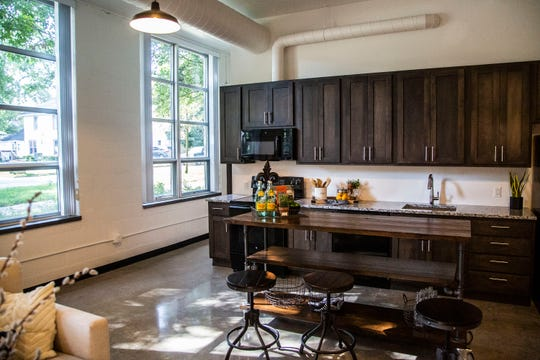 The Phenix School Apartments, offering living and studio space for artists in Valley Junction, are ready for residents to move in on Monday, Aug. 27, 2018, in West Des Moines.