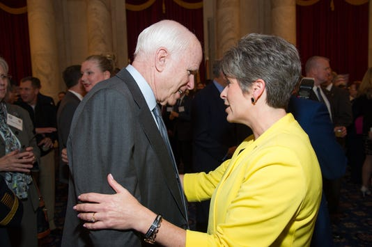 John McCain and Joni Ernst