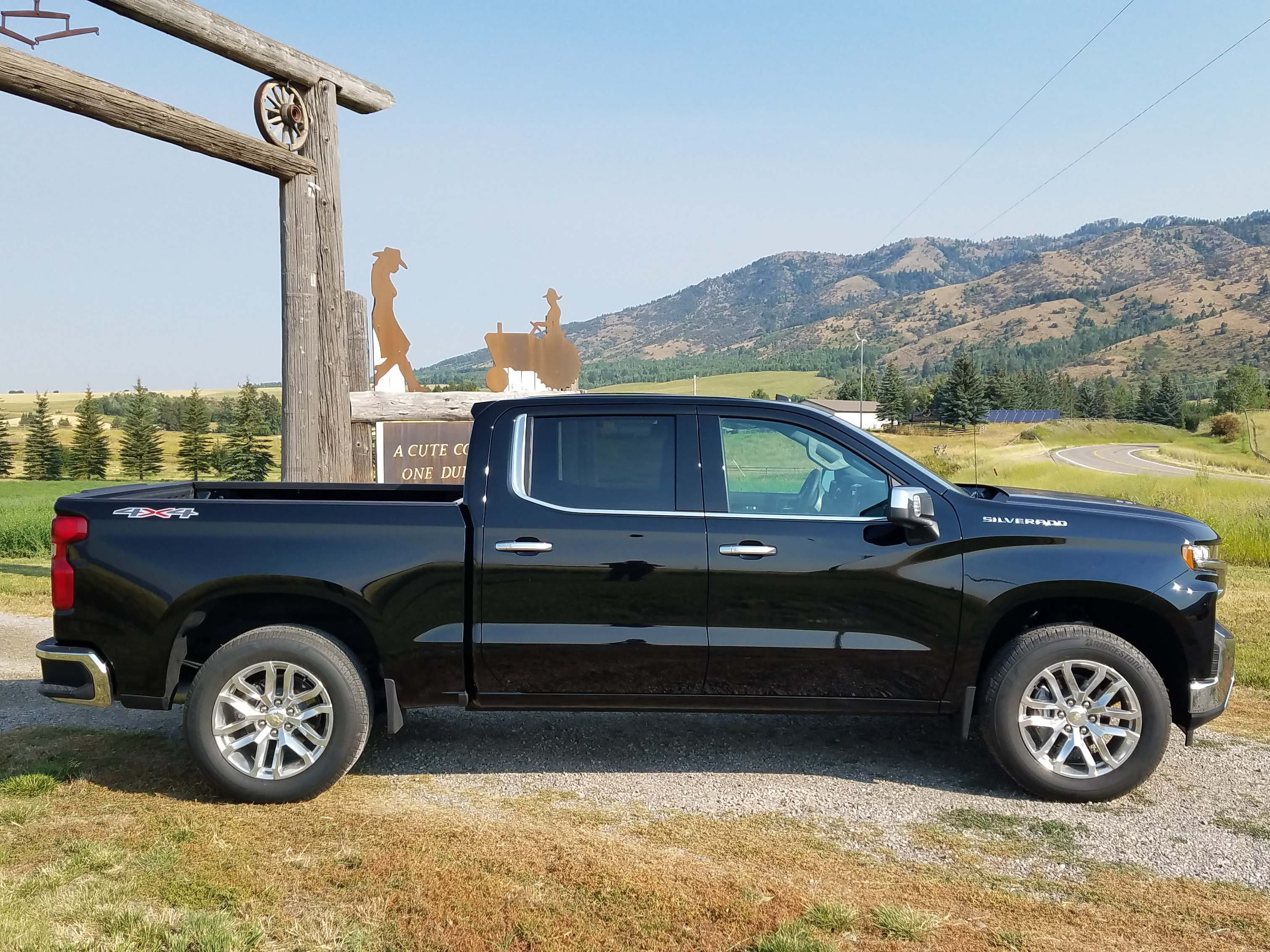 Bigger pickup. With its new chassis design, the 2019 Chevy Silverado gains three inches of rear legroom, 1 inch of length on the rear box, while saving 450 pounds.