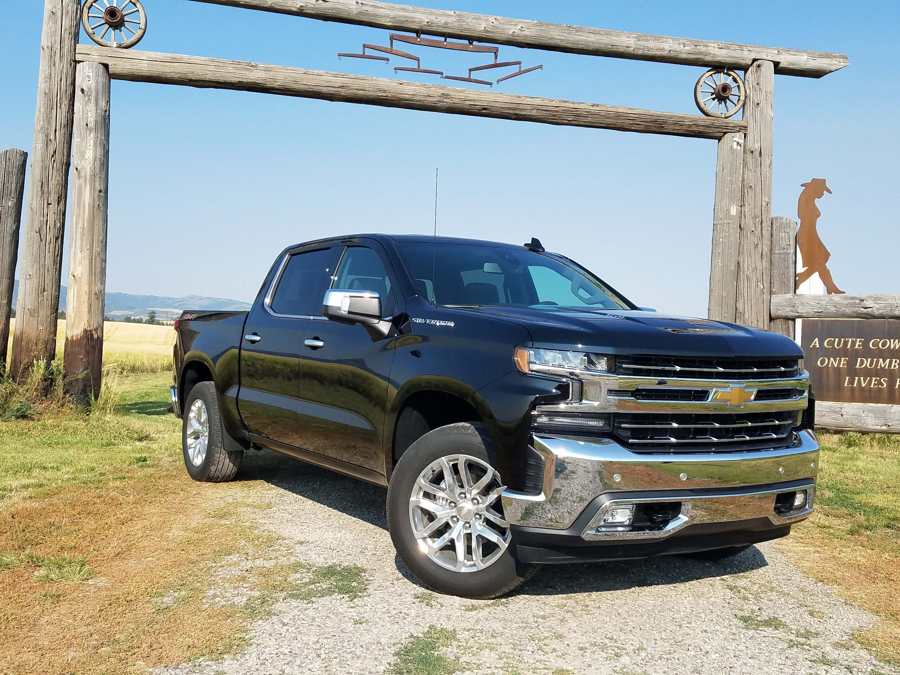 Truck of the Year nominee: With a light weighted chassis (by a significant 450 pounds) and improved rear leaf springs, the 2019 Chevy Silverado is actually fun to drive fast. Call it a Camaro with a bed.