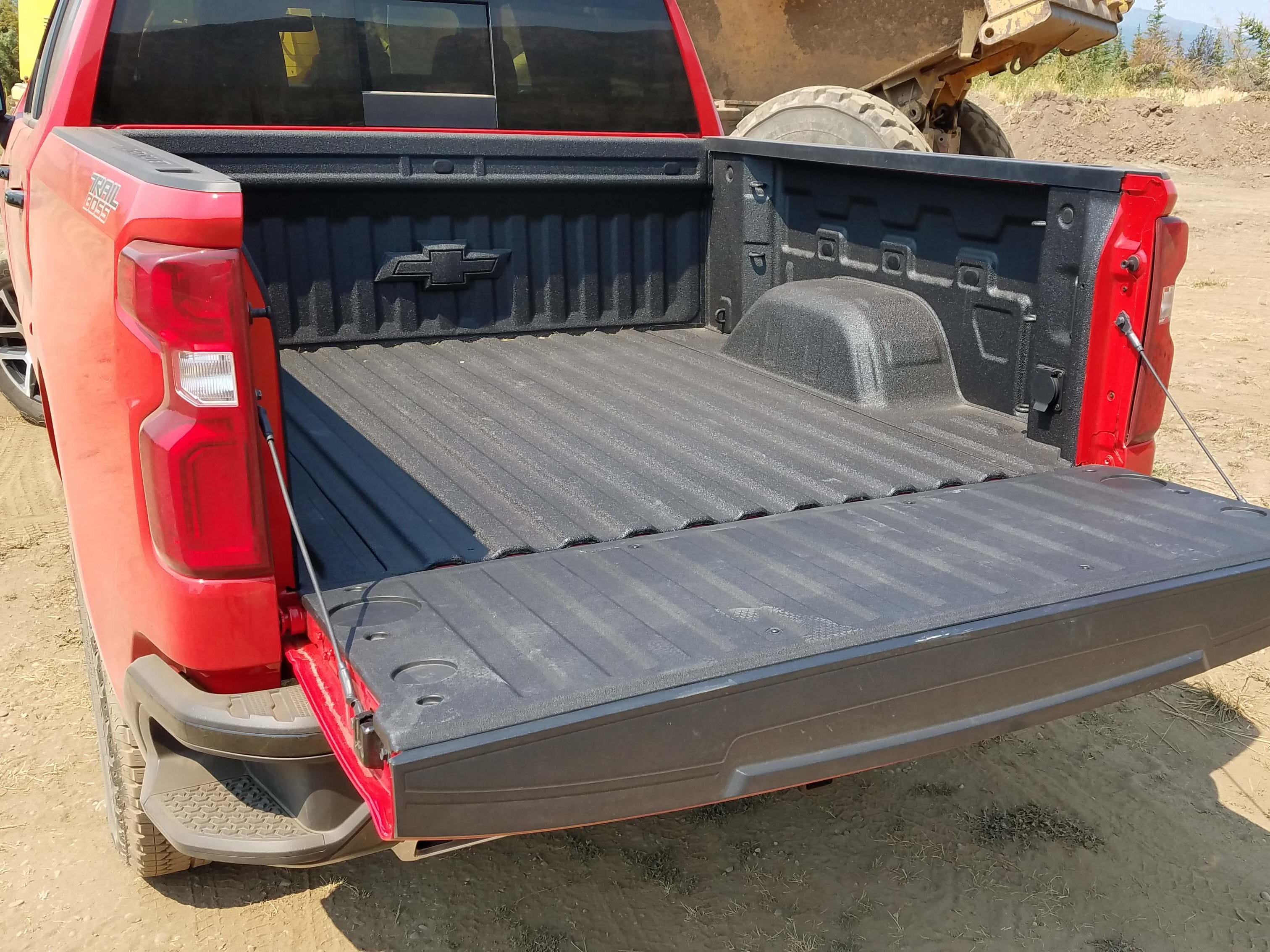 The 2019 Chevy Silverado box is made of rolled steel.
