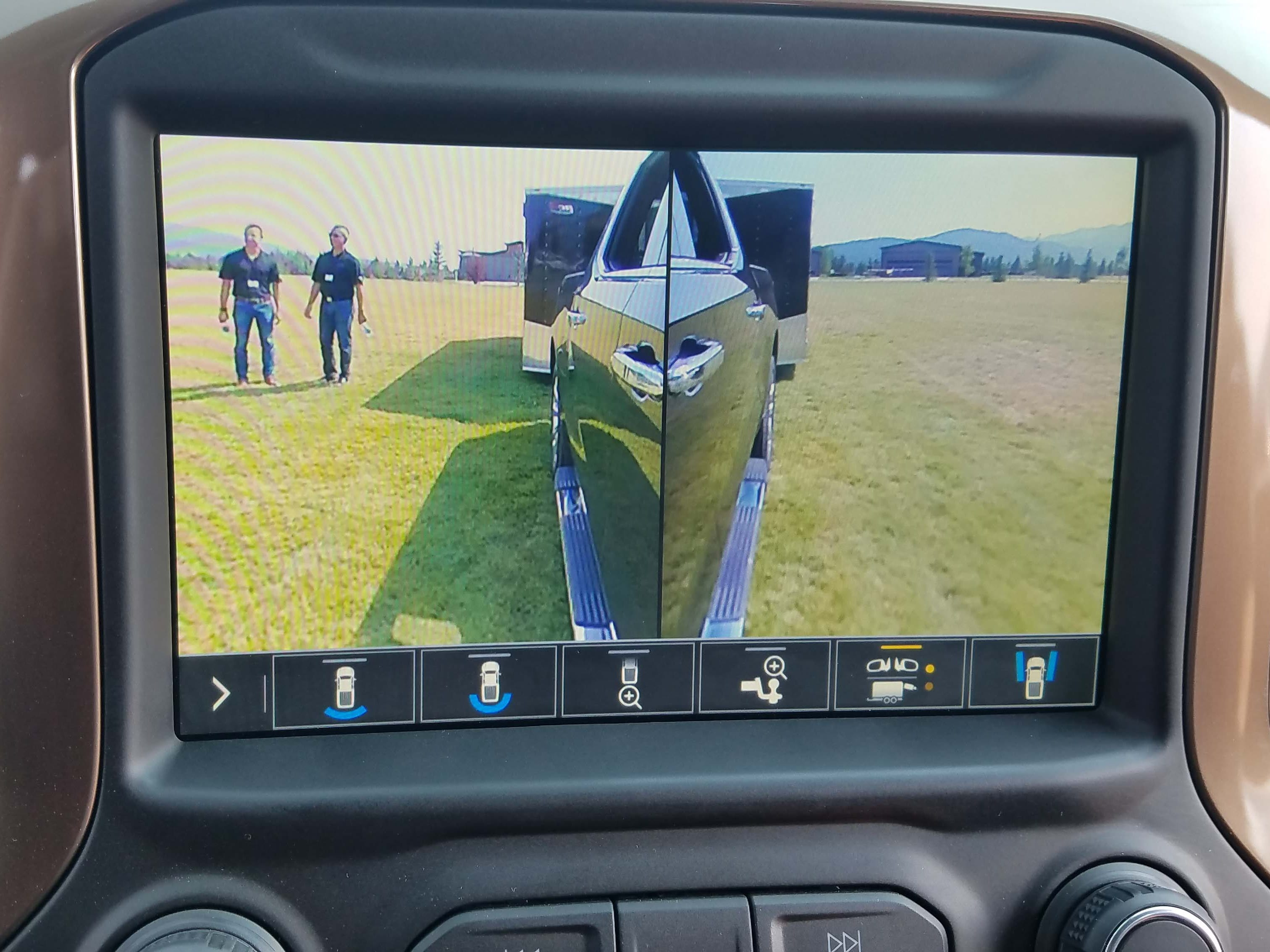 While not challenging Ford's autonomous towing tech, the 2019 Chevy Silverado offers multiple camera views to help with backup chores.