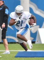 Lions running back Ameer Abdullah's roster spot could be in jeopardy after the addition of LeGarrette Blount and Kerryon Johnson in the offseason.