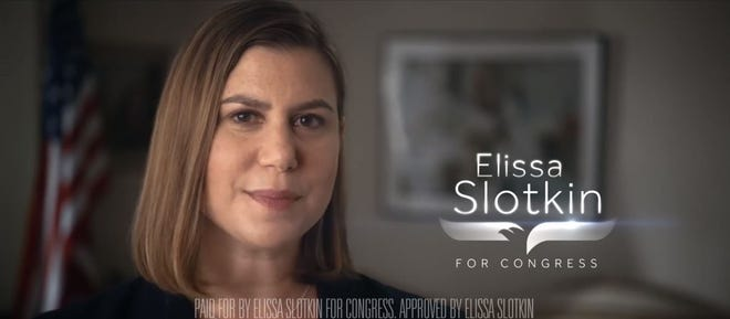 Screenshot from Elissa Slotkin's first TV ad of the general election cycle.