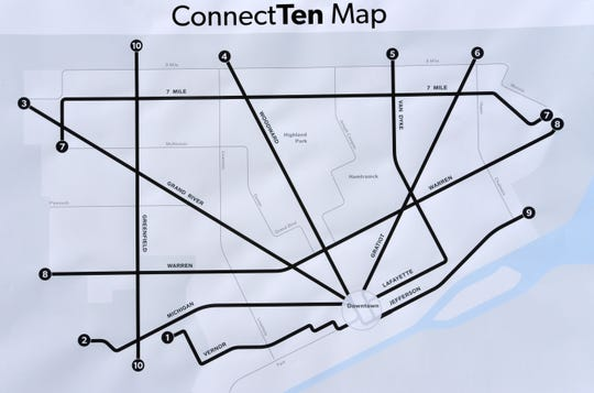 A ConnectTen map shows the new route numbers.