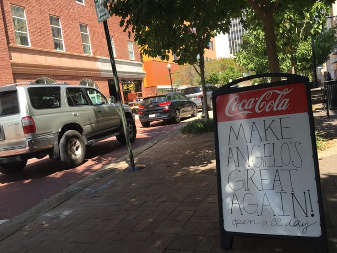 Angelo's on Main Street is ready for the presidential visit Thursday.