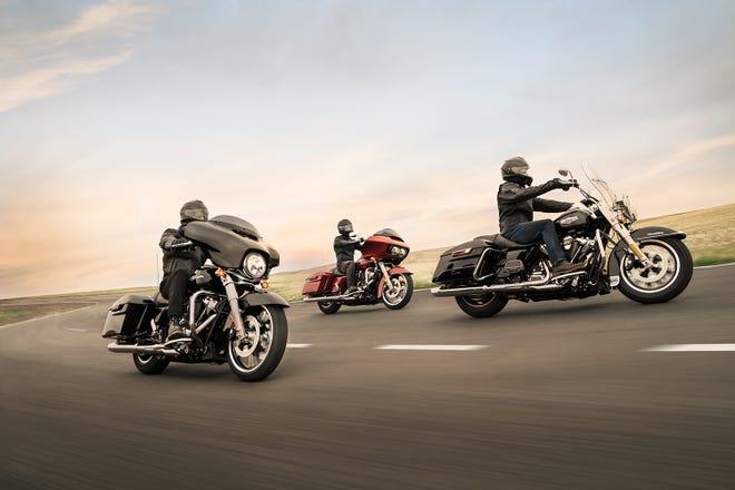 2019 models of Harley-Davidson motorcycles.