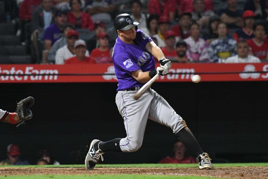 Mlb Colorado Rockies At Los Angeles Angels