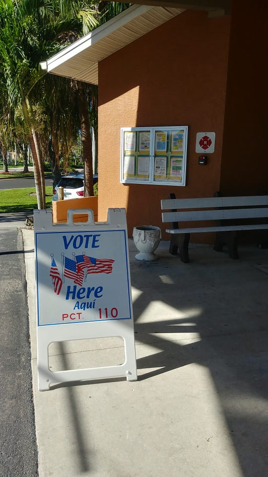 Voting was sporadic at Cape Coral's Lake Kennedy Center between 9 and 10 a.m. today.