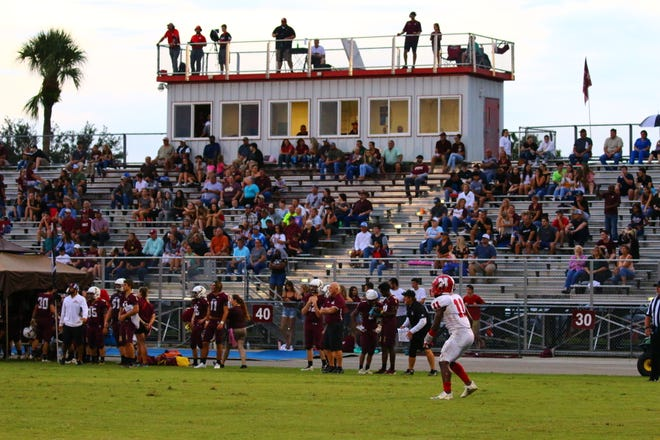 Lee County schools have banned spectators from bringing bags, purses or backpacks to football games following two shootings at Florida high school sporting events.