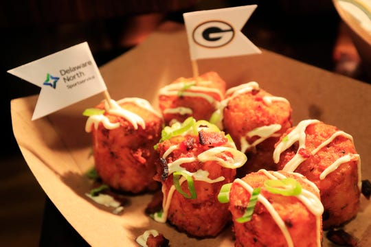 Loaded Potato Tater-Barrels are shown at Lambeau Field on Tuesday, August 28, 2018 in Green Bay, Wis.