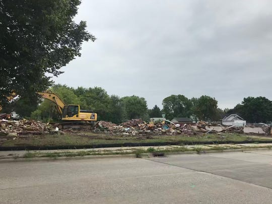 Dan Goben Cars purchased and demolished five blighted homes in the 1300 block of East Mason Street. The work with pave the way for the used car dealership to expand its truck and SUV lot.