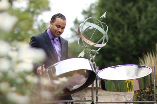Liam Teague gives a concert on the steel pan Sept. 1 to open the Fall Concert Series at  Birch Creek Music Performance Center in Egg Harbor.