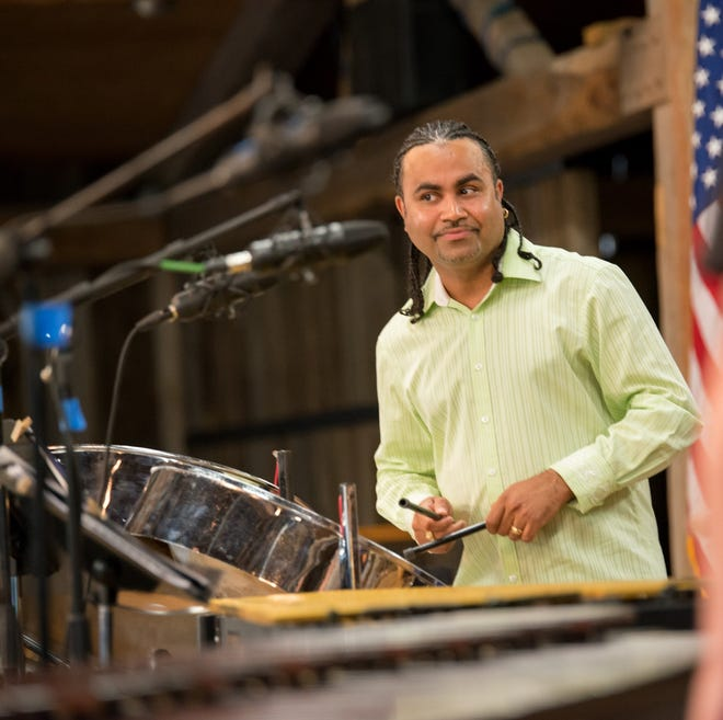 Steel pan artist Liam Teague, shown onstage at Birch Creek Music Performance Center in Egg Harbor, will return to the venue for a Sept. 1 concert.