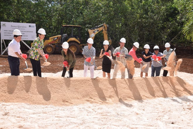 A groundbreaking was held for the 116 unit Siena Garden subdivision being built in parts of Dededo and Yigo on Aug.  28, 2018. Government officials and representatives of the project turn dirt to mark the beginning of the project.