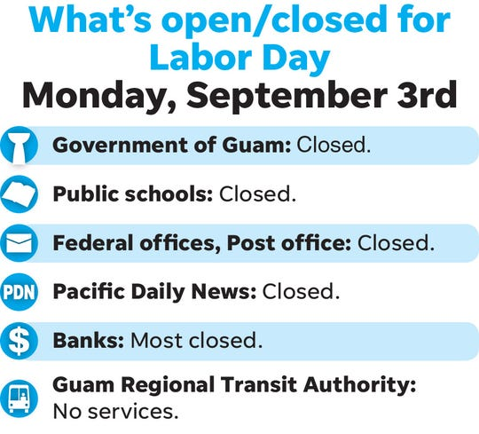 Most agencies will be closed Labor Day