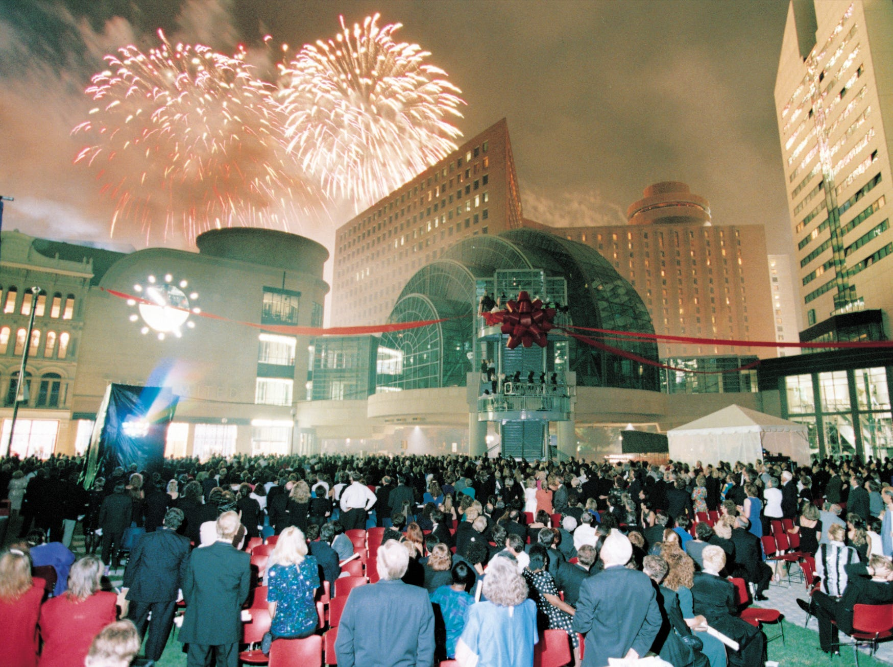 Grand Opening ceremony for Circle Centre Mall on the evening of Sept. 7, 1995.