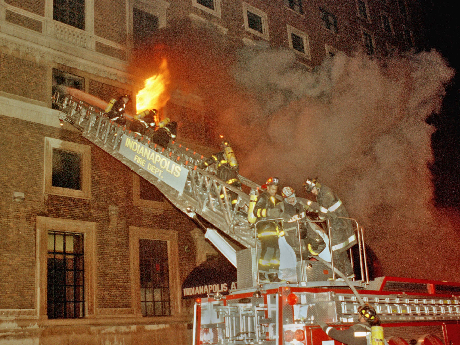 "Just after midnight on Feb. 5, 1992, a fire broke out at the Indianapolis Athletic Club. Killed in the fire were Cpl. Ellwood M. ""Woody"" Gelenius, 47 and Pvt. John J. Lorenzano, 29."