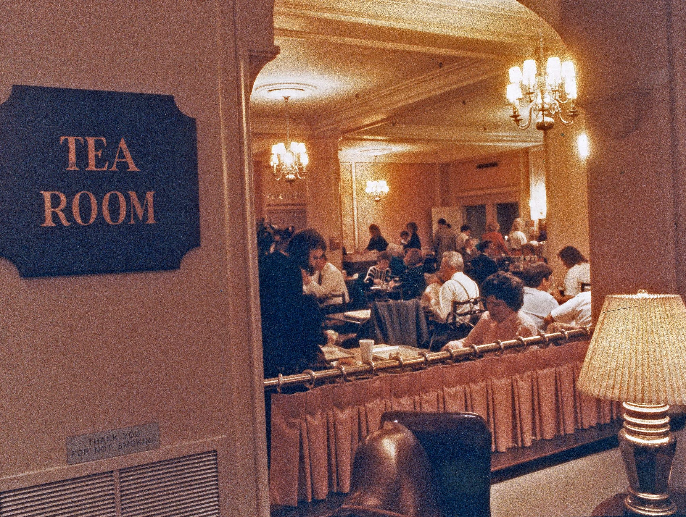 The Ayres Tea Room in November 1990 before the downtown store closed the following month.
