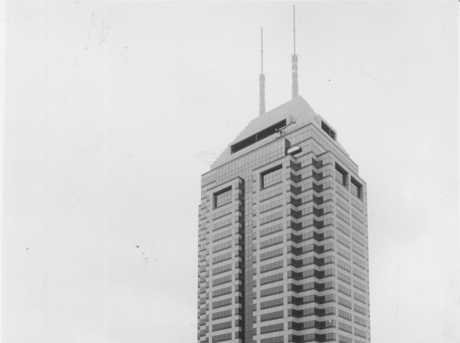 After years of planning and construction, the 52-story Bank One Center opened in September 1990.