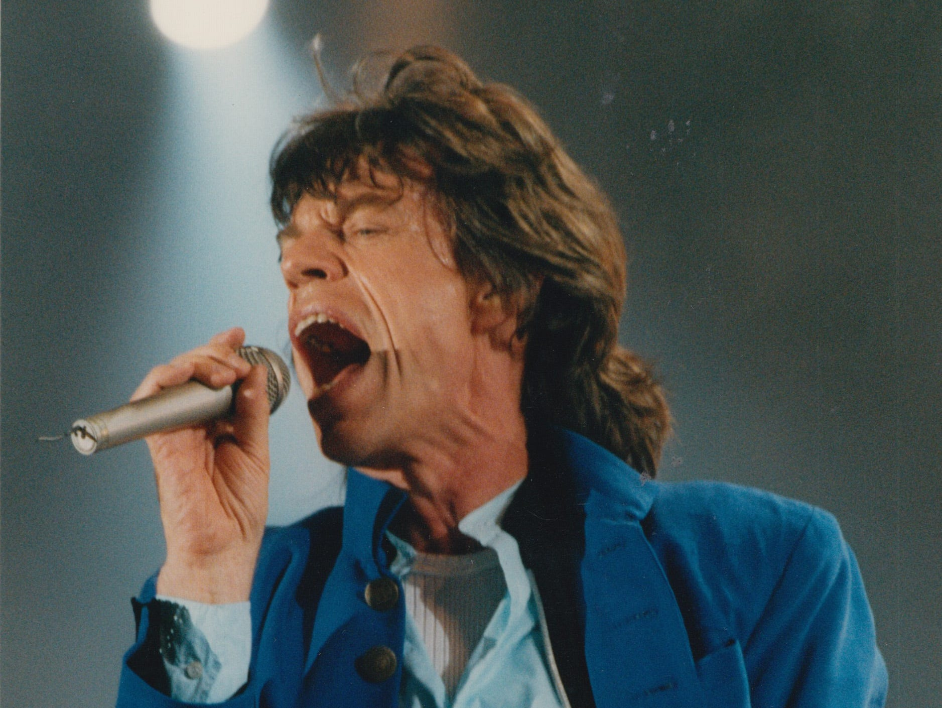 Mick Jagger during the Rolling Stones Voodoo Lounge tour stop at the RCA Dome in 1994.