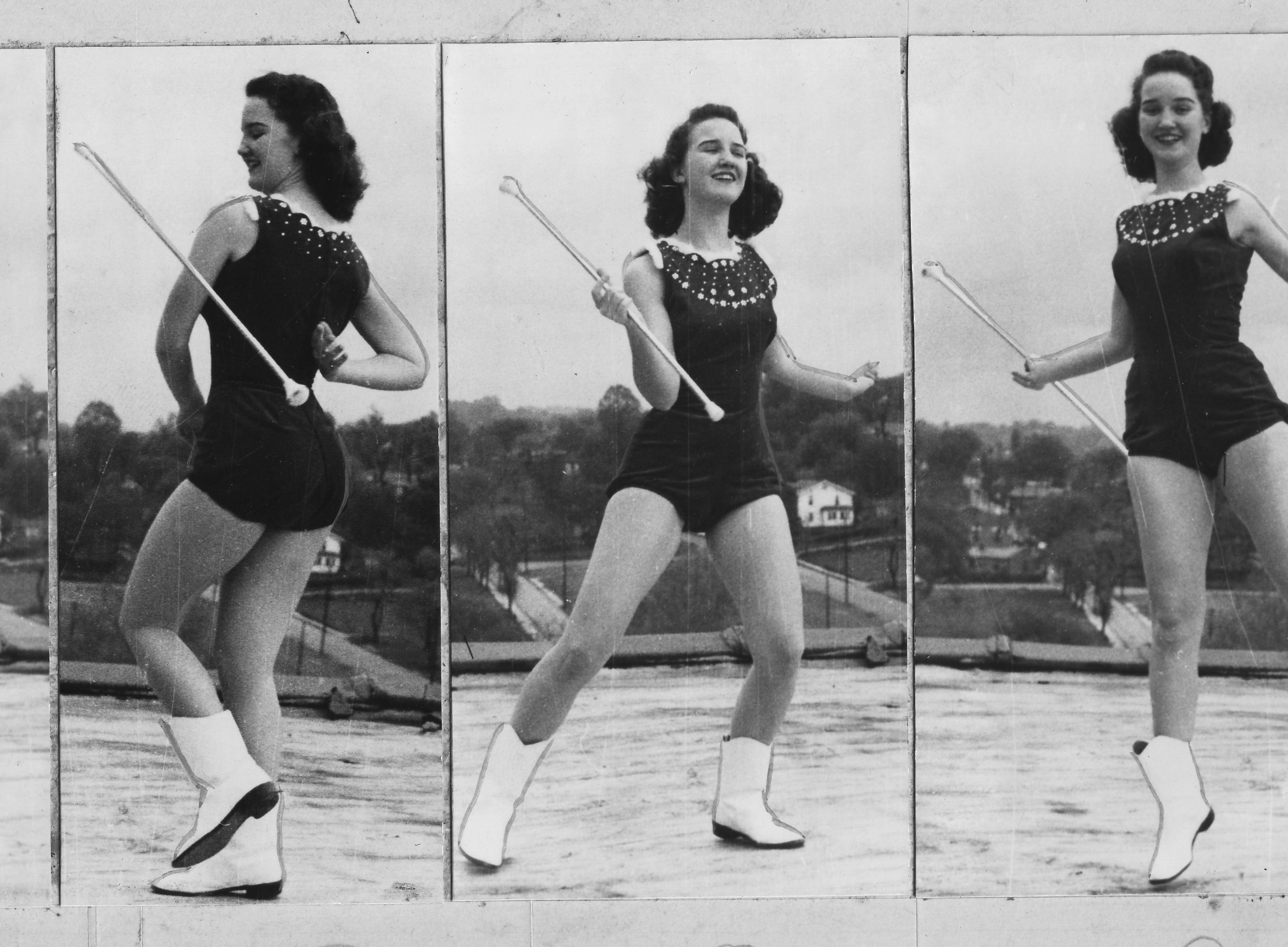 University of Tennessee majorette Claudette Riley.