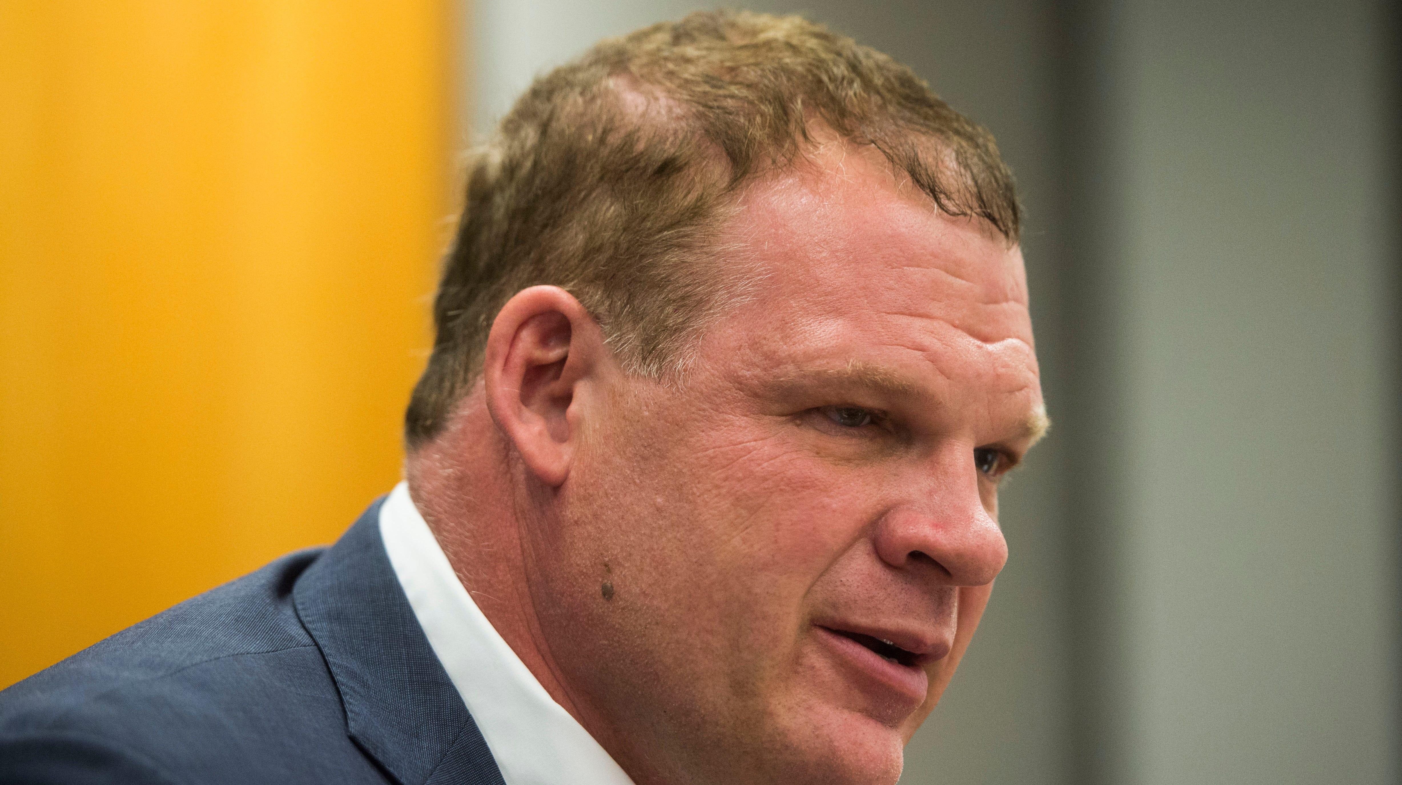 Knox Mayor Jacobs, aka wrestler 'Kane,' says he's never