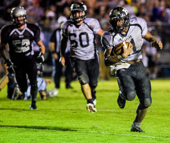 Kaplan running back Julius Johnson was voted as the top player for the Pirates.