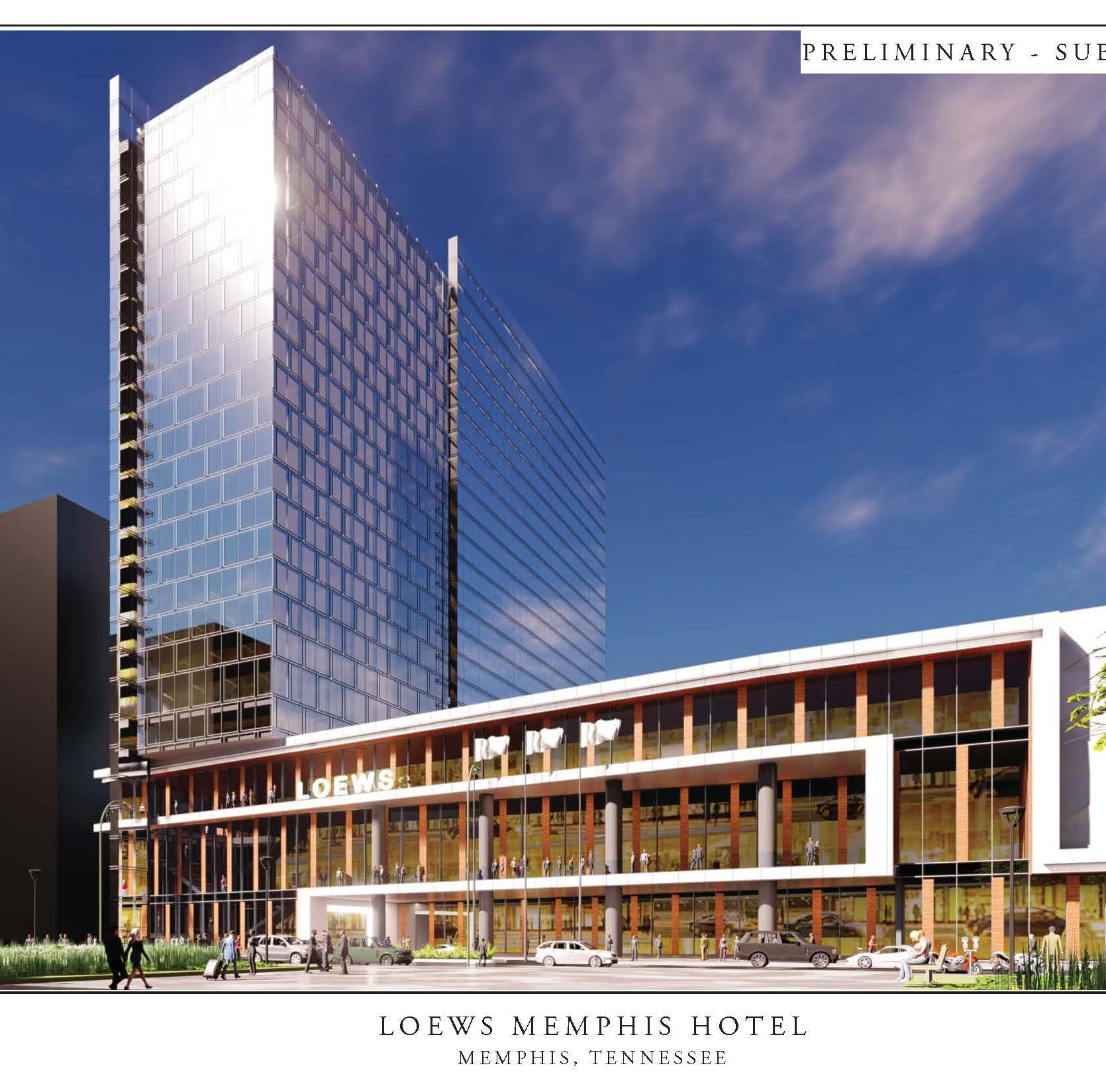 Memphis signs letter of intent with Loews for convention center hotel