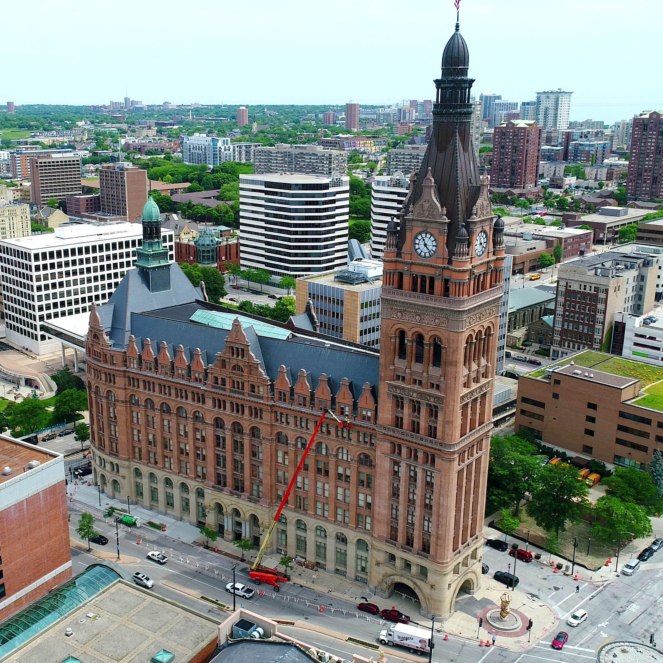Milwaukee City Hall is seen from above. Support local journalism and subscribe to the Journal Sentinel today.