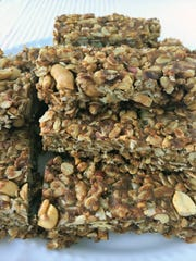 These granola bars are both chewy and crunchy.