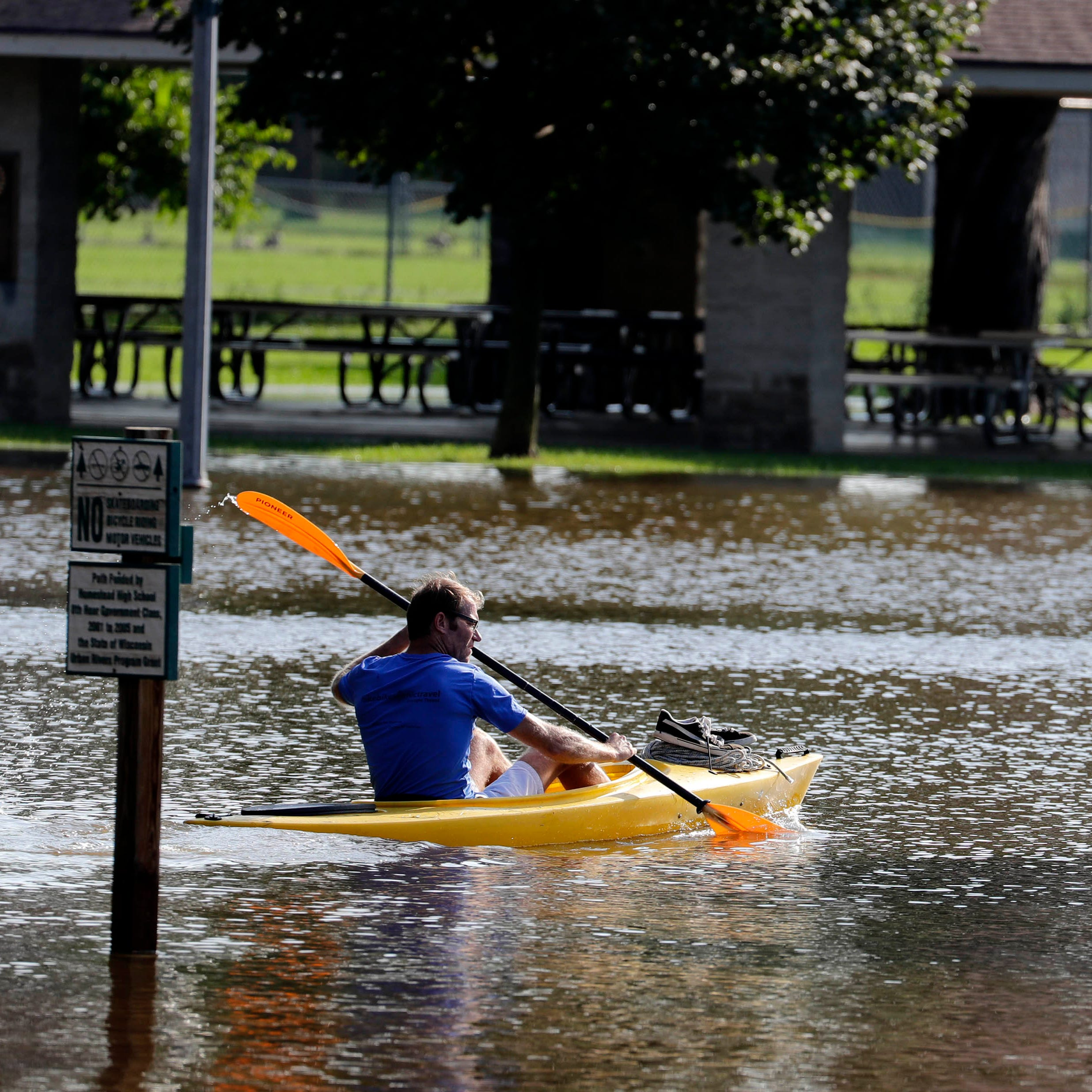 As dry weather finally nears, waterlogged Wisconsin reports staggering 3-week rain totals