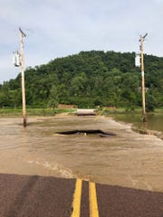 Roads in Vernon County were inundated with flood waters last week.