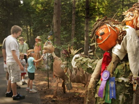 Scarecrow Lane is one of the highlights of the Retzer Nature Center apple harvest festival.