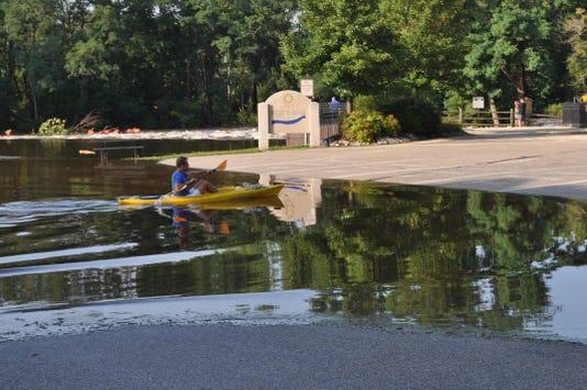 Flooding at Village Park in Thiensville