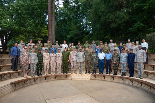 Maxwell AFB, Ala. - Chief Master Sergeant of the Air Force Kaleth O. Wright welcomes his counterparts from 35 partner nations to the Senior Enlisted Leader International Summit at the Air Force Senior NonCommissioned Officer Academy