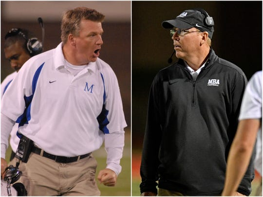 McCallie coach Ralph Potter (left) and MBA coach Marty Euverard (right)