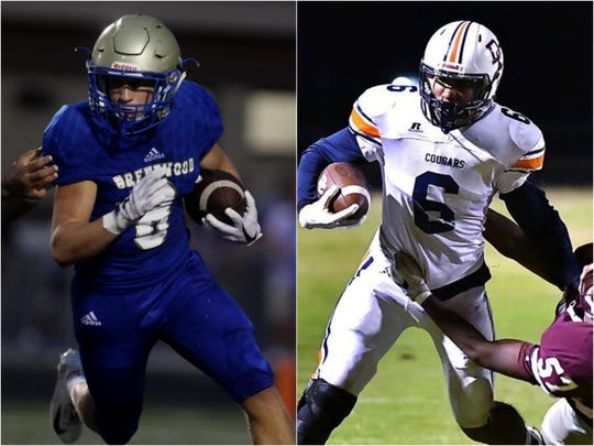 Brentwood's Michael Burke (left) and Dickson County's Darian Burns (right)
