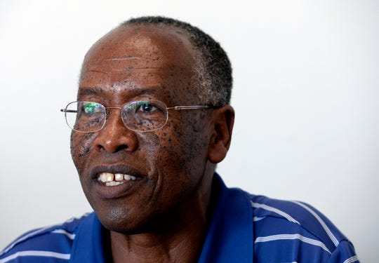 """William Mwizerwa talks about the film """"Beautifully Broken"""" on Aug. 27 in Nashville. Mwizerwa moved to the U.S. from Rwanda to flee the genocide in the 1990s, and later created Legacy Mission Village, a resource for refugees in Nashville."""