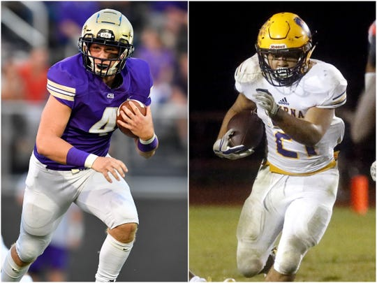 CPA senior Kane Patterson (left) and Smyrna senior Blake Watkins (right)