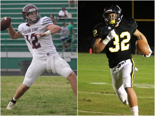 Station Camp quarterback Max Barnett (left) and Hendersonville running back Derek Kincaid (right).