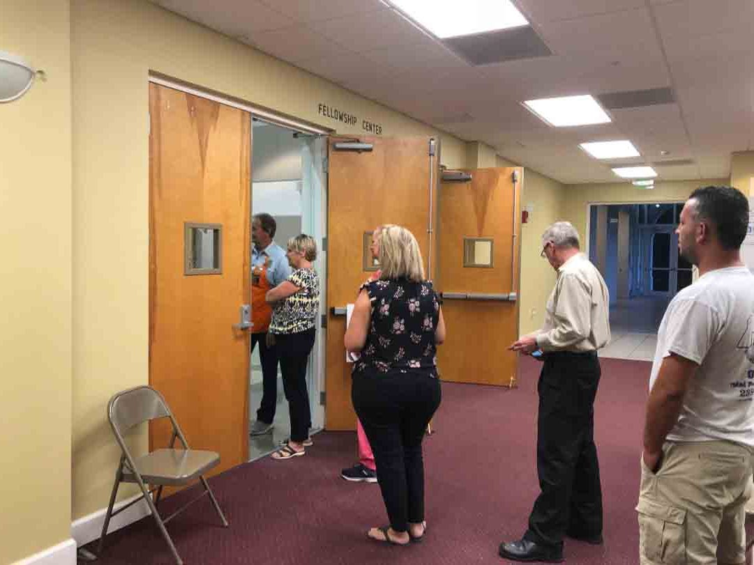 Voting has started at precinct 310 in North Naples at North Naples Baptist Church Aug. 28, 2018.  Polls are open from 7 a.m. to 7 p.m.