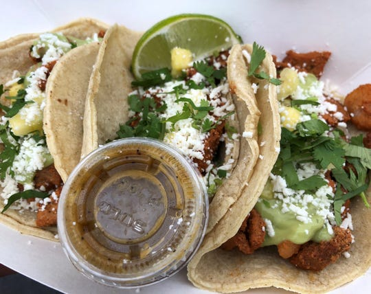 The tacos al pastor from Taco Tummy.