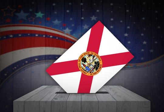 Ballot box in Florida.