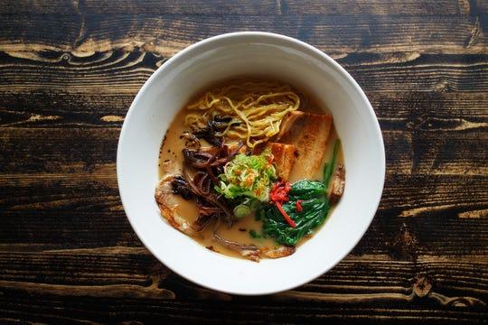 One of many ramen soups at Ani Ramen